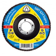 Лепестковый тарельчатый круг SMT 624 125X22,23 (зерно 40,60,80,120) Арт (322772, 322774, 322775, 322776)