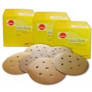 Золотистые абразивные диски GOLD на бумажной основе B312T, d 150мм, 7 отверстий SUNMIGHT